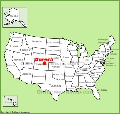 Aurora Maps Colorado US Maps of Aurora