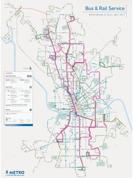 Austin bus and rail map