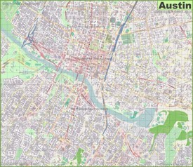 Large detailed map of Austin