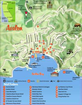 Avalon Hotel Map