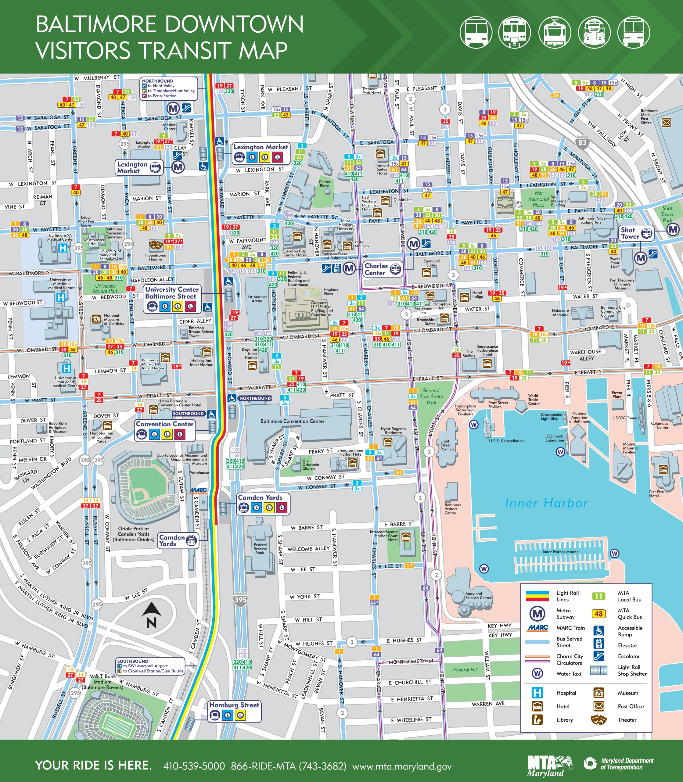 Baltimore downtown map
