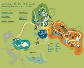 Baltimore Zoo map