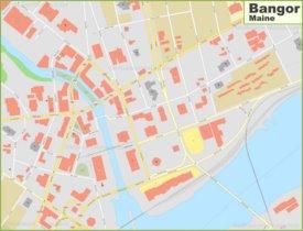 Bangor downtown map