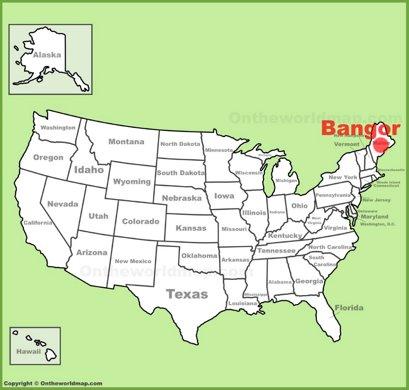 Bangor Location Map