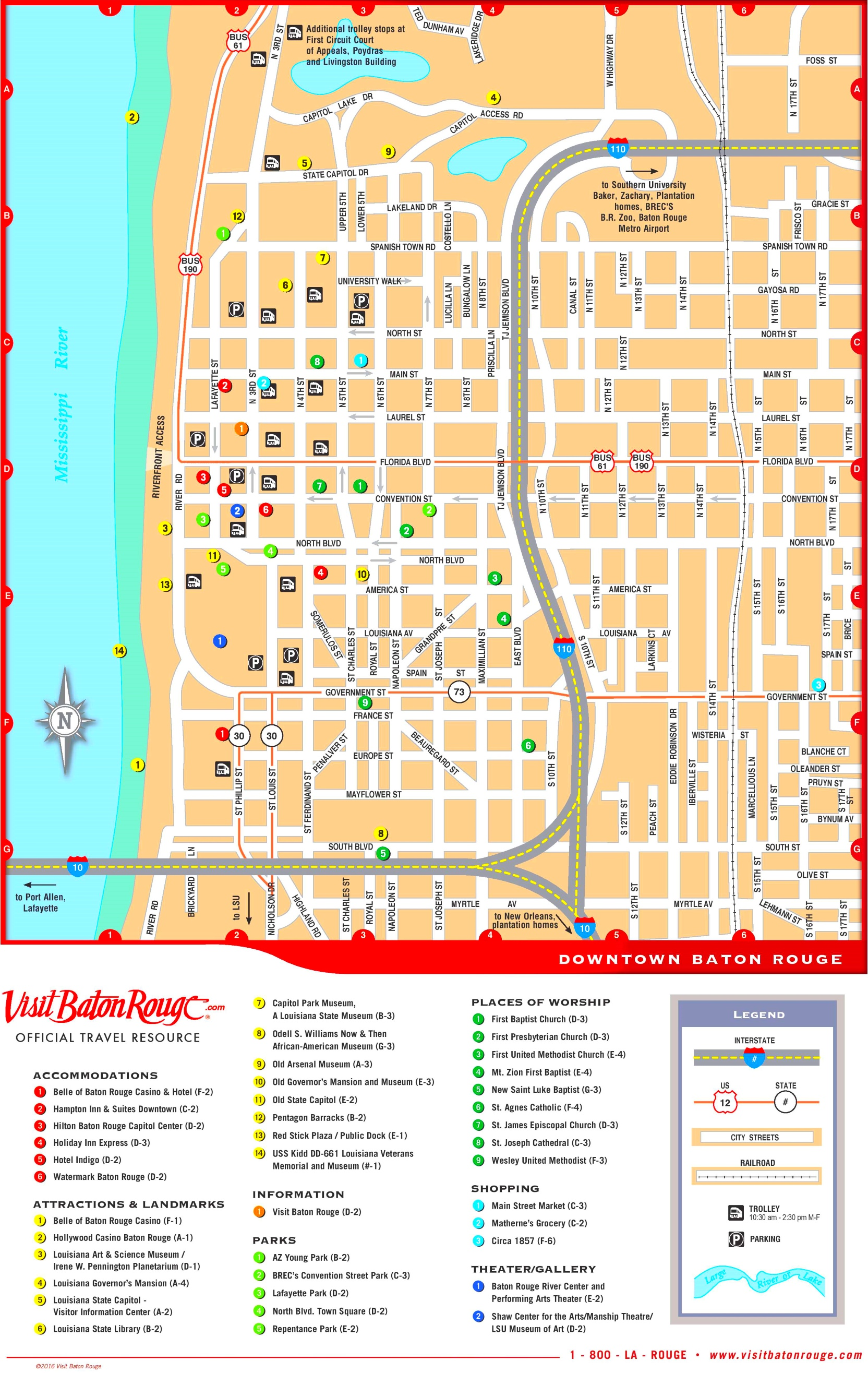 Baton Rouge Maps Louisiana US Maps of Baton Rouge