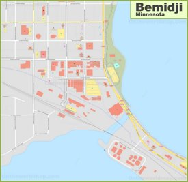 Bemidji downtown map