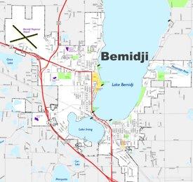 Bemidji street map