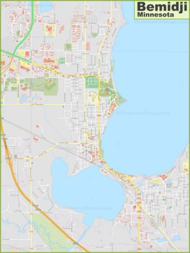Large detailed map of Bemidji