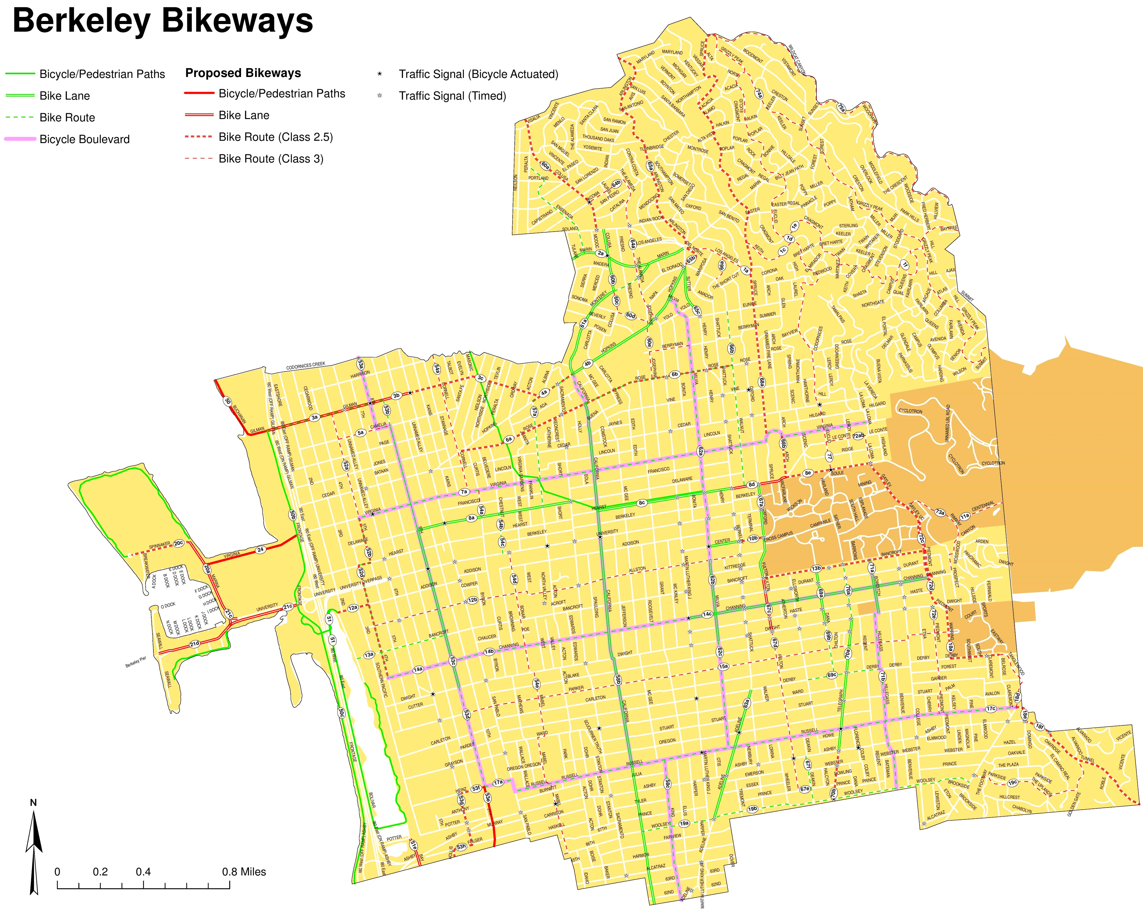 Berkeley bike map