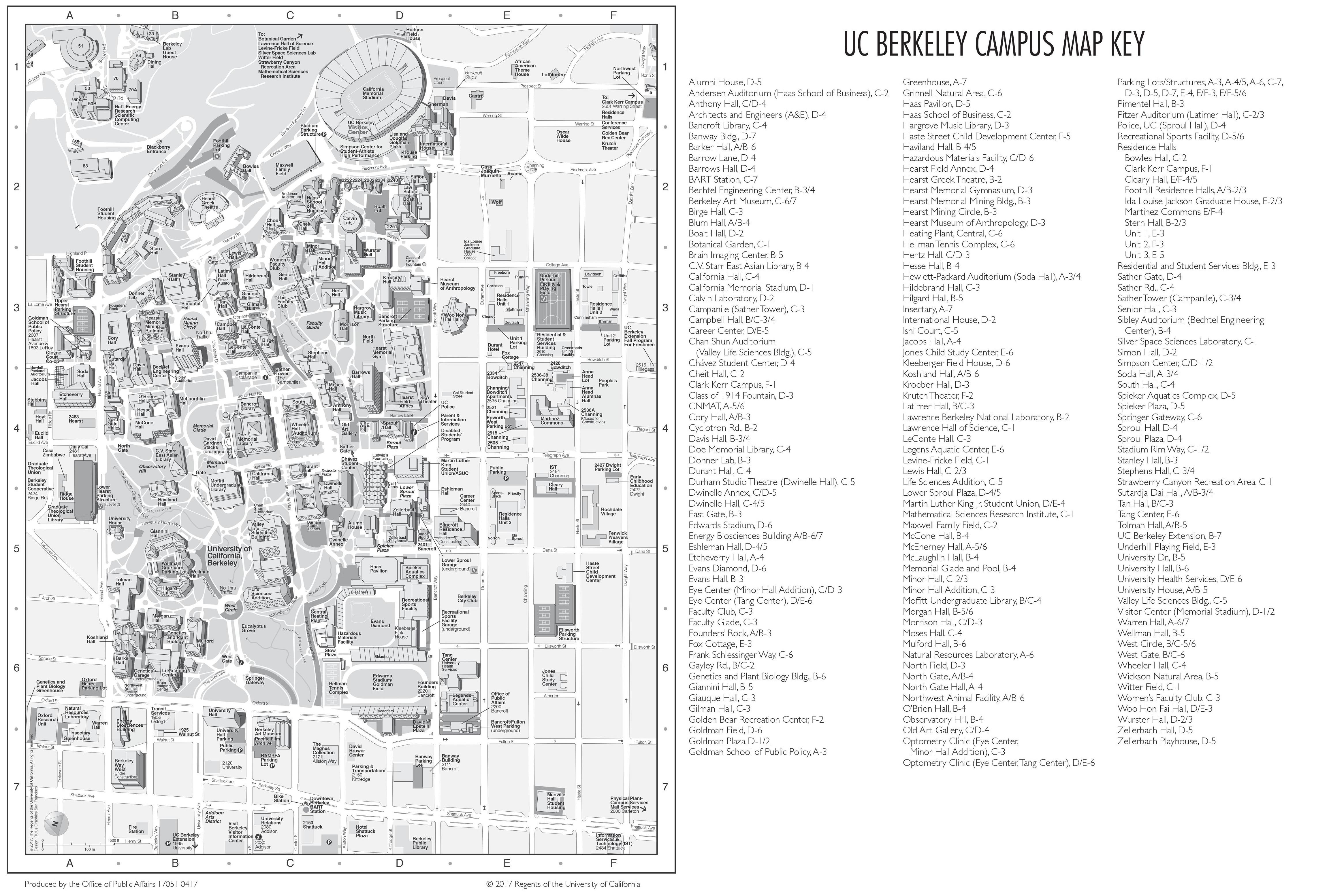 uc berkely campus map Berkeley Campus Map uc berkely campus map