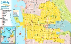 Berkeley hotels and sightseeings map