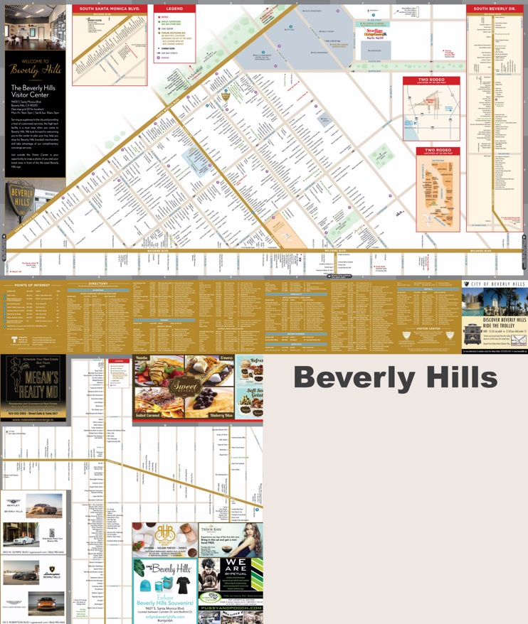 Hills hotels and sightseeings map