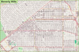 Large detailed map of Beverly Hills