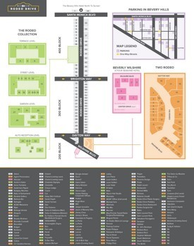 Rodeo Drive shopping map