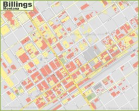 Billings downtown map
