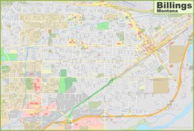 Large detailed map of Billings