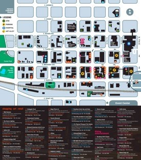 Bismarck tourist map