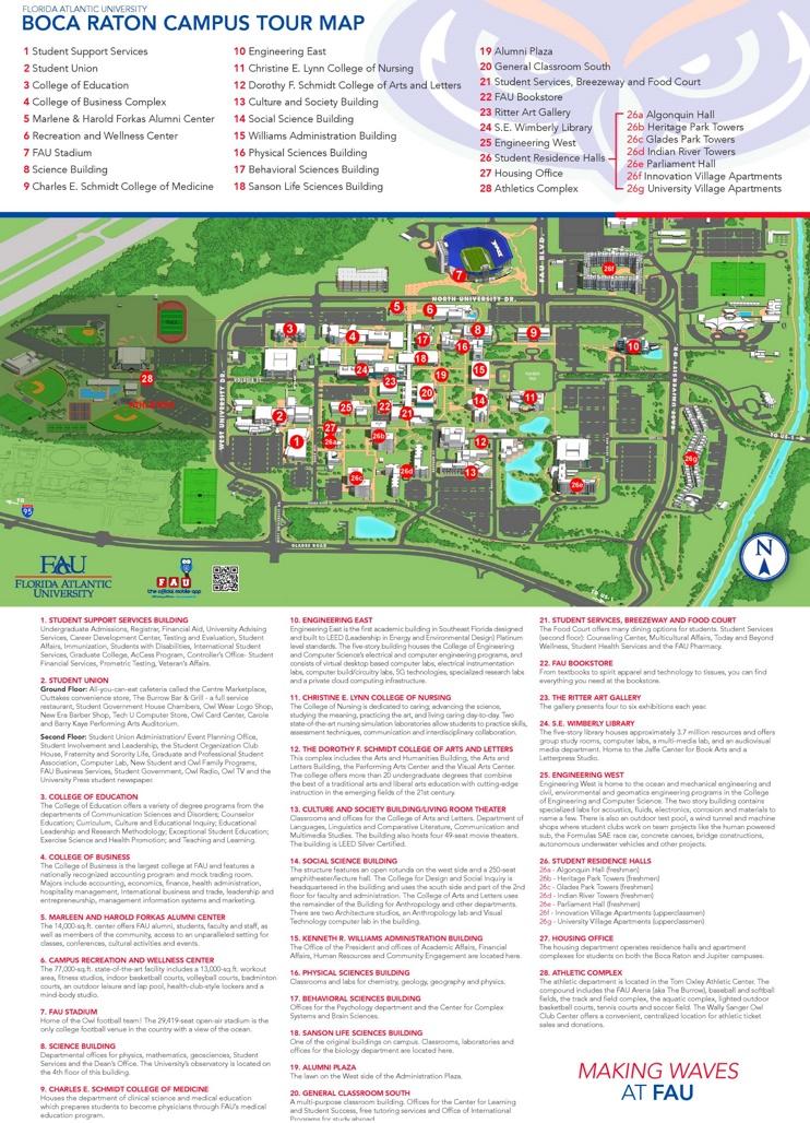 Boca Raton campus map