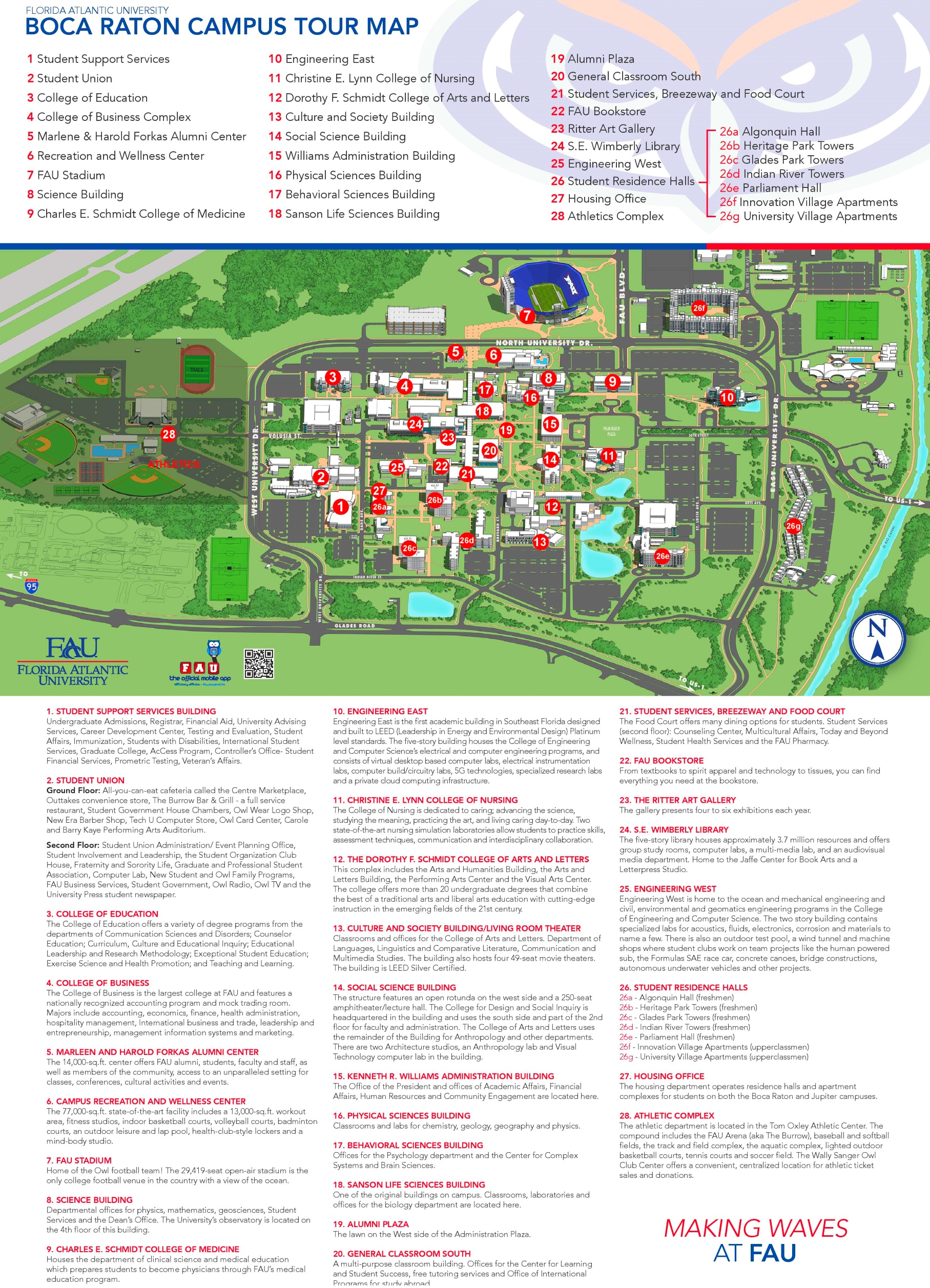 Campus Map Fau.Boca Raton Campus Map