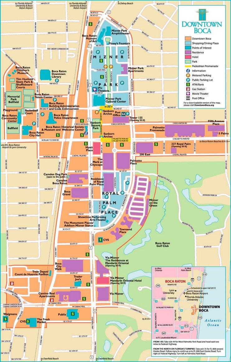 Boca Raton tourist map
