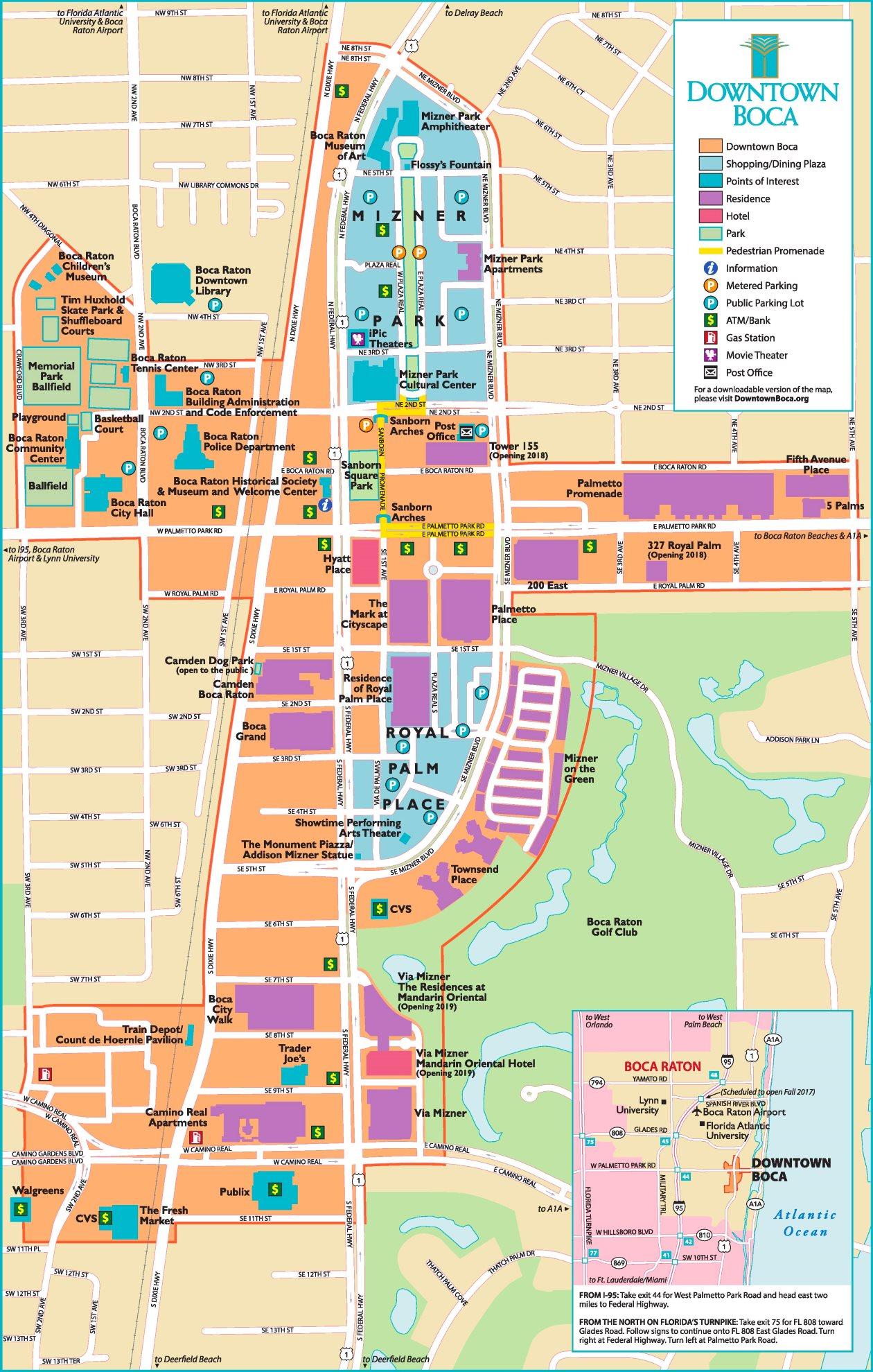 Boca Raton Map Www Topsimages Com
