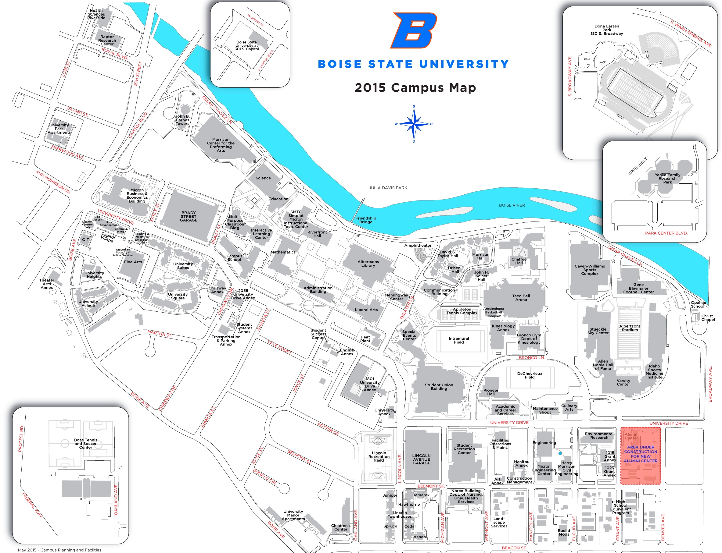 Boise State Campus Map Boise State University Campus map