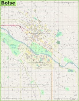 Large detailed map of Boise