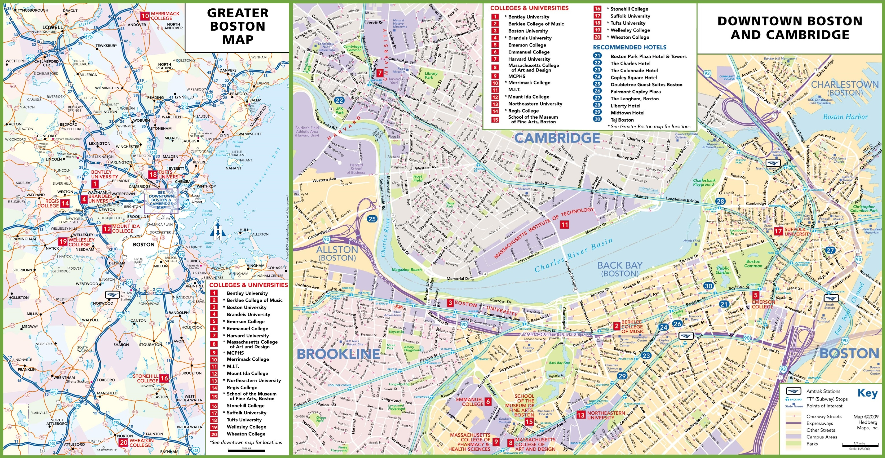 Boston University Map Boston colleges and universities map