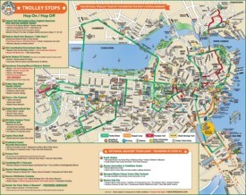 Boston downtown map