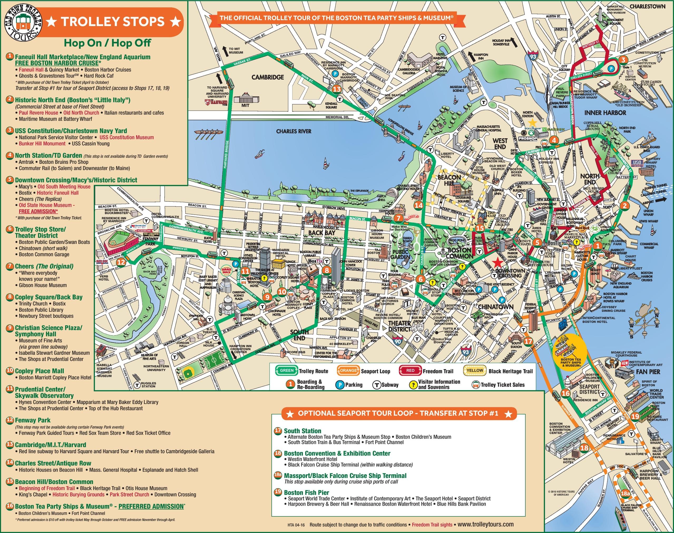 Boston downtown map