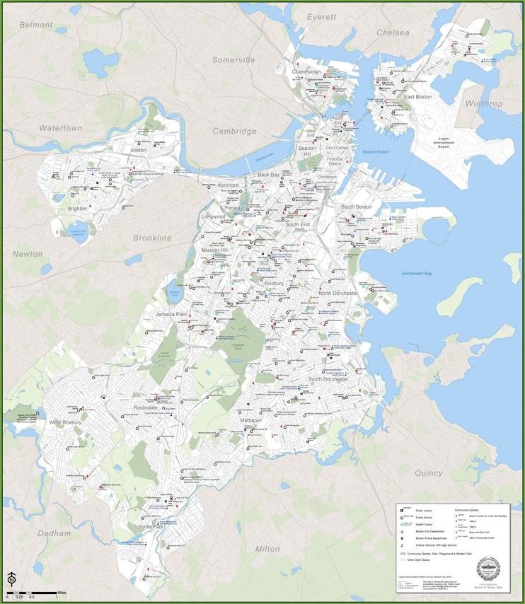Boston public services map