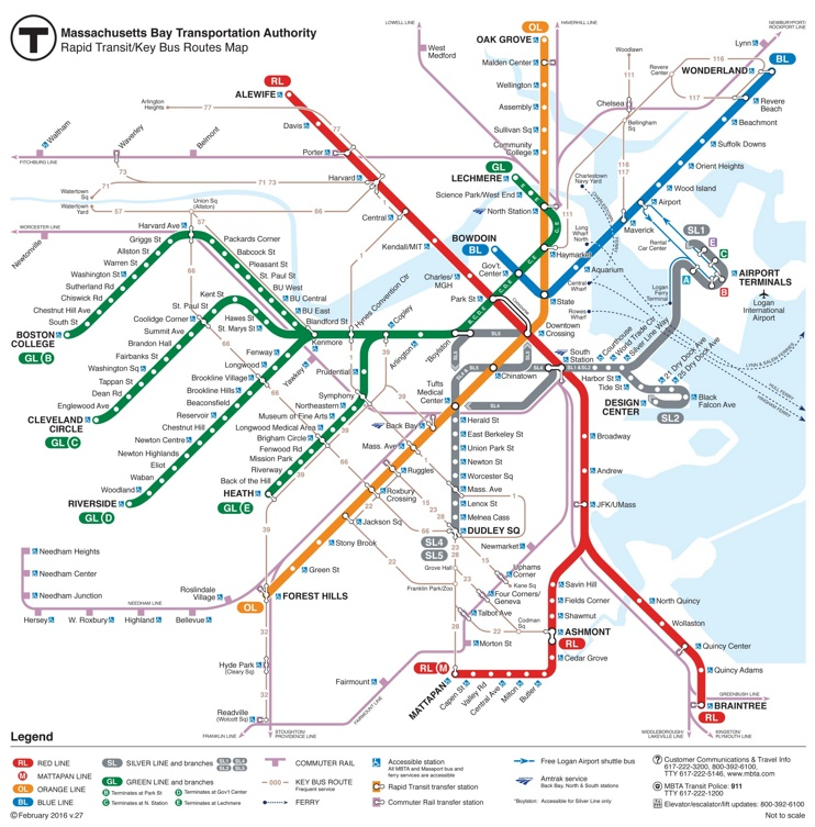 Boston rail map
