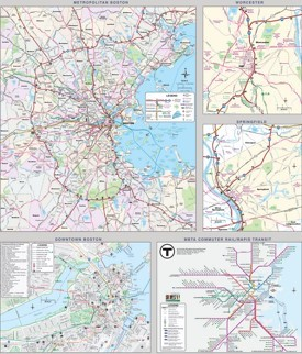 Boston transport map