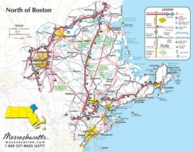 North of Boston map