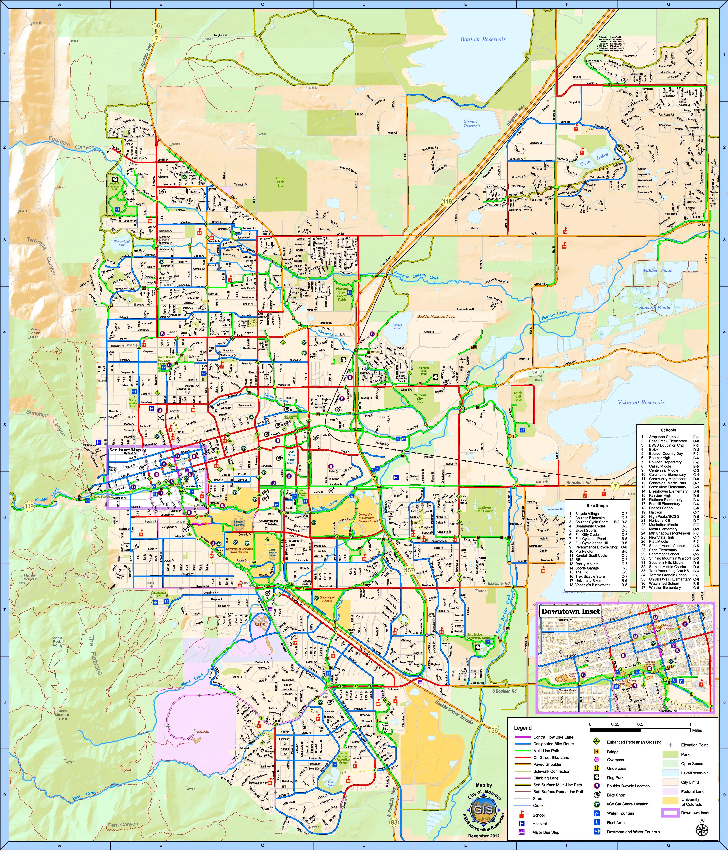 Boulder bike map