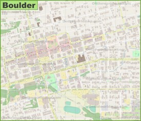 Boulder Maps Colorado US Maps of Boulder