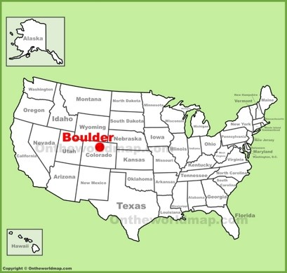 Boulder Maps Colorado US Maps Of Boulder - Boulder colorado on a map of us