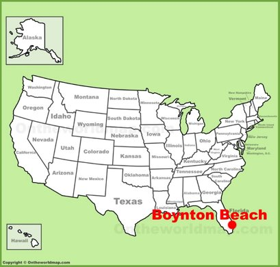Boynton Beach Location Map