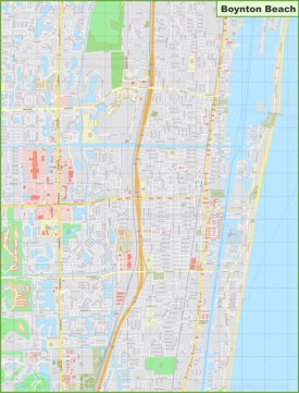 Large detailed map of Boynton Beach