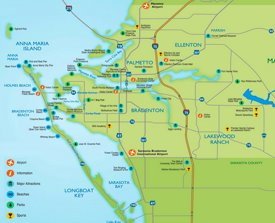 Bradenton tourist map