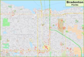Large detailed map of Bradenton