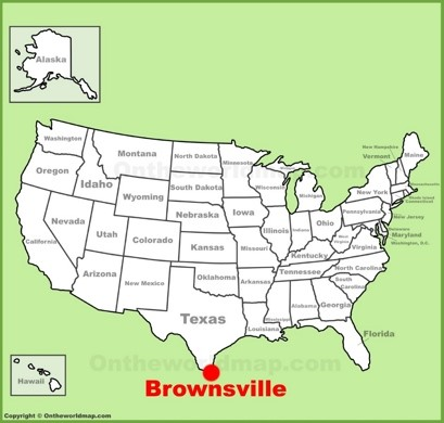 Brownsville Location Map