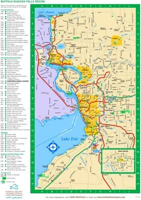 Buffalo area hotels and sightseeings map
