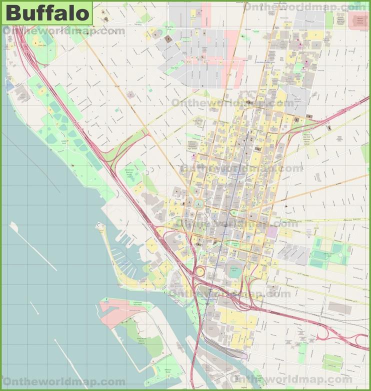 Buffalo downtown map