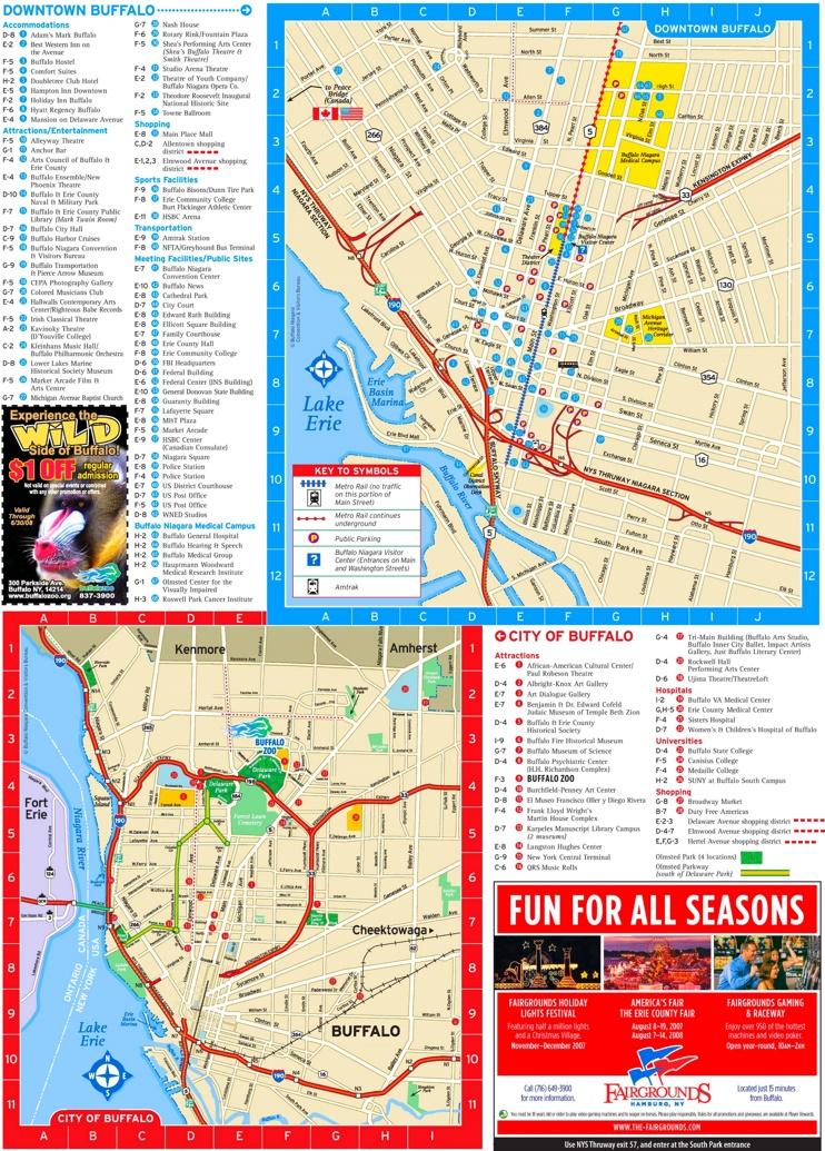 Buffalo tourist map