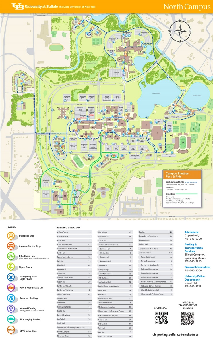 University at Buffalo North Campus map