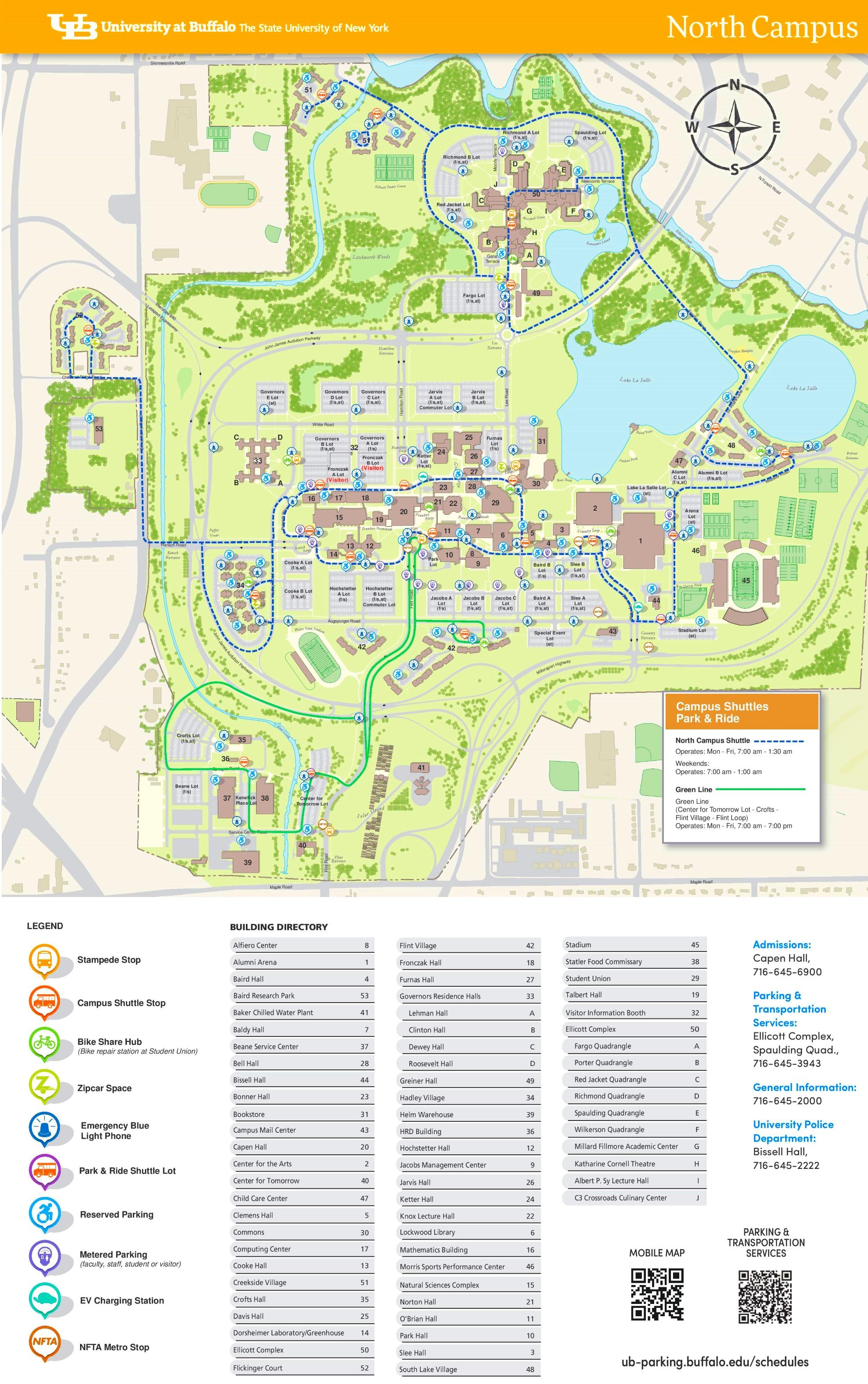 University At Buffalo North Campus Map University at Buffalo North Campus map