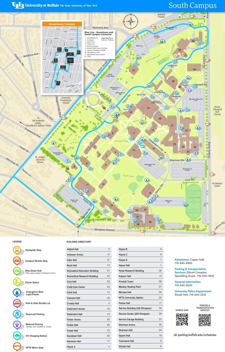 University at Buffalo South Campus map