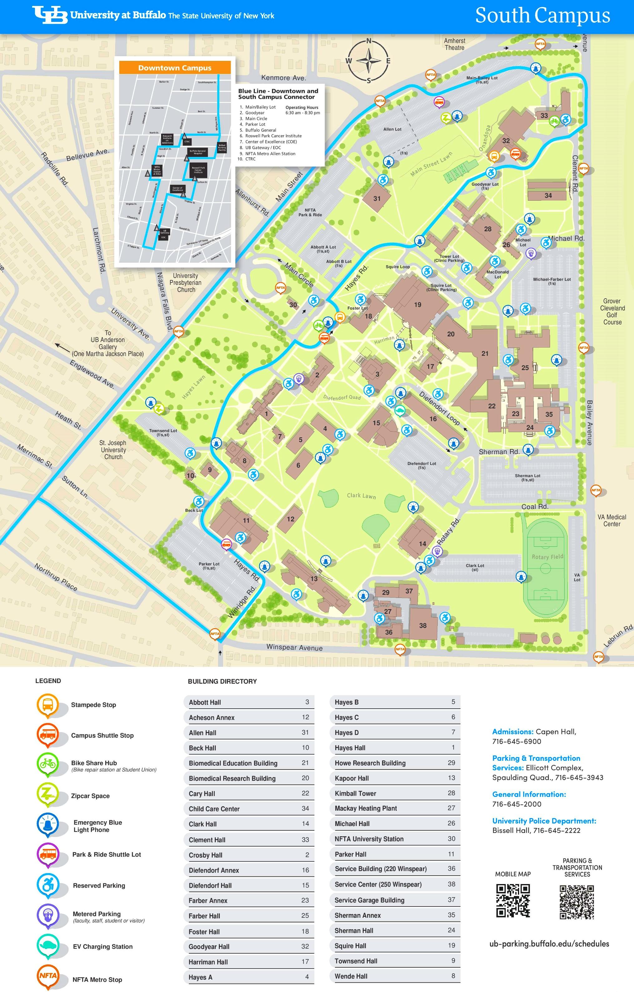 University At Buffalo North Campus Map University at Buffalo South Campus map