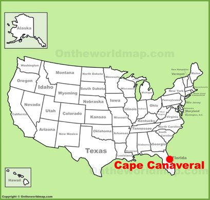 Cape Canaveral Location Map